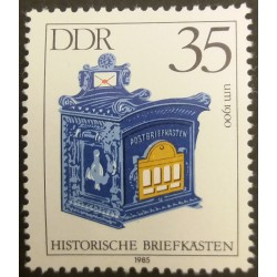 GDR stamp: Historical mail...