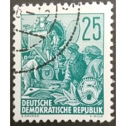 GDR stamp: Railwaymen 25...