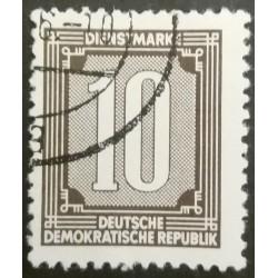 GDR stamp: 10 Dienstmark