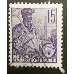 GDR stamp: Steel worker 15...