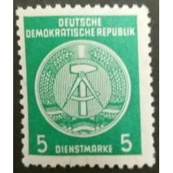 GDR stamp: 5 Dienstmark