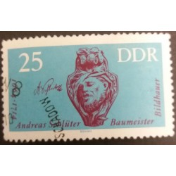 GDR Stamp: Sculptor Andreas...