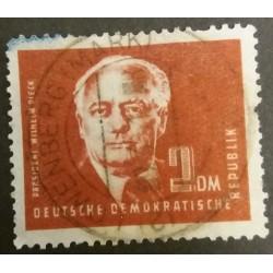GDR stamp: President Wilhem...