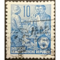 GDR stamp: Workers 10...