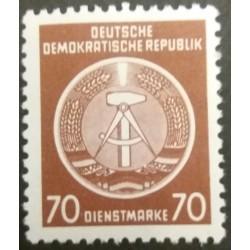 GDR stamp: 70 Dienstmark