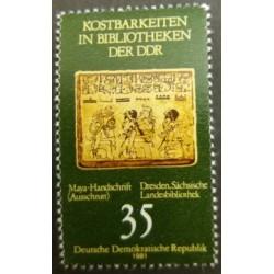 GDR stamp: Dresden Library...
