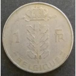 Pièce Belgique : 1 Franc...