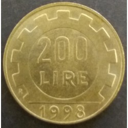 Coin Italy : 200 Lire 1998