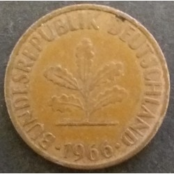 Coin Germany : 1 Pfennig 1966