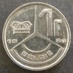 Coin Belgium : 1 Franc 1989
