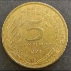 Coin France : 5 Cent 1971