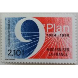 Französische Briefmarke: 9....