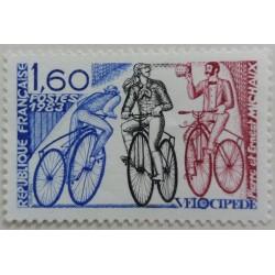 Stamp France: Velocipede...