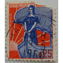 Stamp France: Marianne 25...