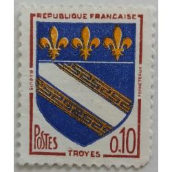 Stamp France: Blazon Troyes...