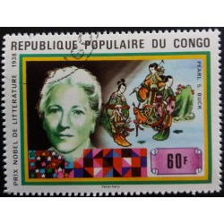 Congo stamp: Pearl S. Buck...