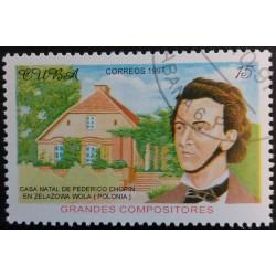 Cuba Stamp: Chopin DB 15...
