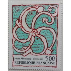 Timbre Pierre Alechinsky 5 Francs 1985