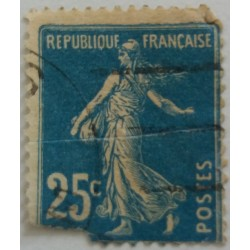 French stamp: 25 centimes