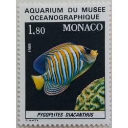 Monaco Stamp: Aquarium of...