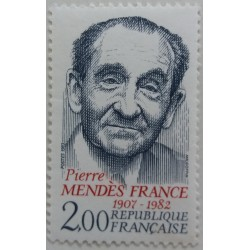 Stamp France: Pierre Mendès...
