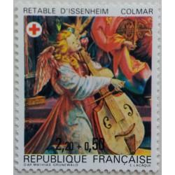 Stamp France: Altarpiece of...
