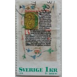 Stamp Sweden: 1 Crown 1976
