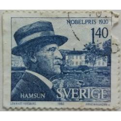 Stamp Sweden: Hamsun Nobel...