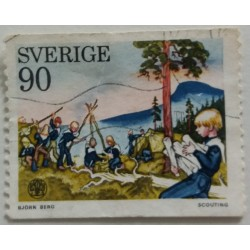 Stamp Sweden: 0.90 Crown...