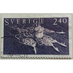 Stamp Sweden: 2.40 Crown...