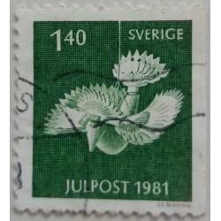 Stamp Sweden: 1.40 Crown...