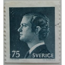 Stamp Sweden: 0.75 Crown...