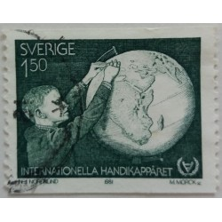 Stamp Sweden: 1.5 Crown...