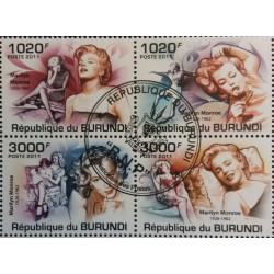 Burundi stamp: Marilyn...