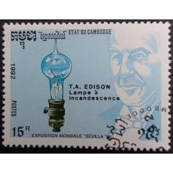 Cambodia stamp: T.A. Edison...