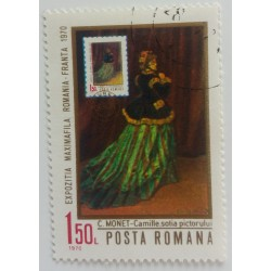 Stamp Romania: Claude Monet...