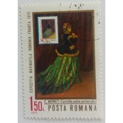 Stamp Romania: Claude Monet...