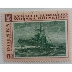 Poland Stamp: Warship 1970...
