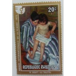 Rwanda stamp: Mary Cassatt...