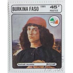 Sello Burkina Faso: Retrato...