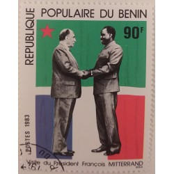 Benin stamp - Mitterrand...