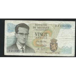 Banknote 20 Belgian francs...
