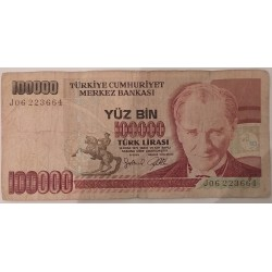 Banknote Turkey 100,000...