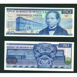 Banknote mexico 50 pesos 1981