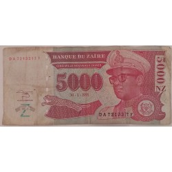 Banknote Zaire 5000 New...