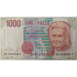 Banknote Italy 1000 Lire...
