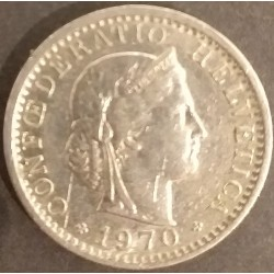 Swiss coin 20 centimes 1970