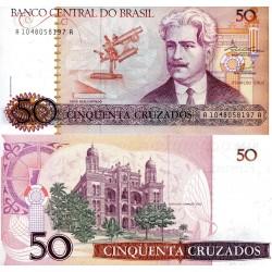 Brésil : Billet 50 Cruzados...